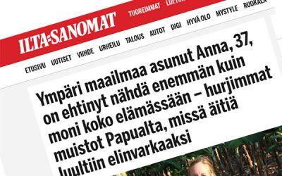 Anna Holmströmin kansainvälinen elämä